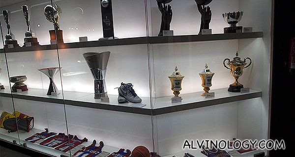Trophies from other Barcelona sports teams