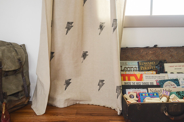 How to Stamp Curtains-3