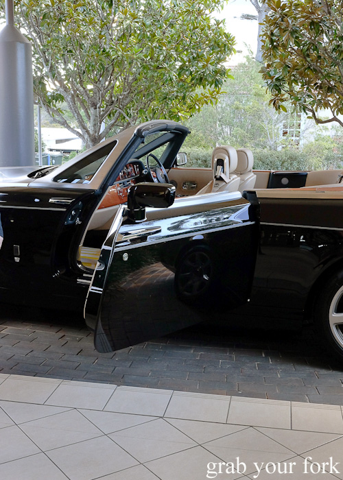 Rolls Royce Phantom Drophead chauffeur-driven ride from Jonah's, Whale Beach