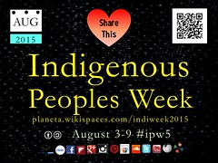 Save the Date! 2015 Indigenous Peoples Week: August 3-9 #ipw5 @localtravels @nuttisamisiida @timeunlimited