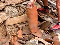 2ème maison de Ghjuncaghjola : vestiges de belles tuiles