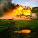 burning abandoned buildings by Nicola Abraham
