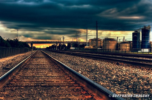 sunset train tampa unitedstates florida traintracks hdr sony50mm palmriver sonya550