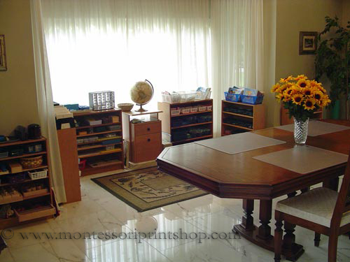 Montessori Homeschool Classroom (Photo by Montessori Print Shop)