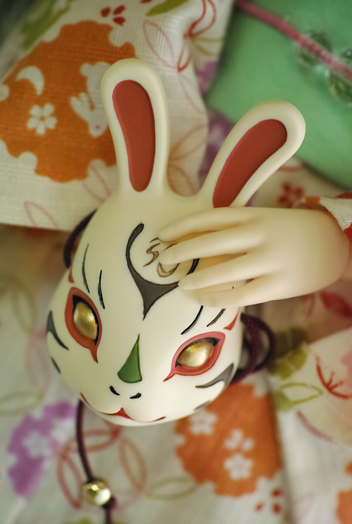 Japanease mask of rabbit