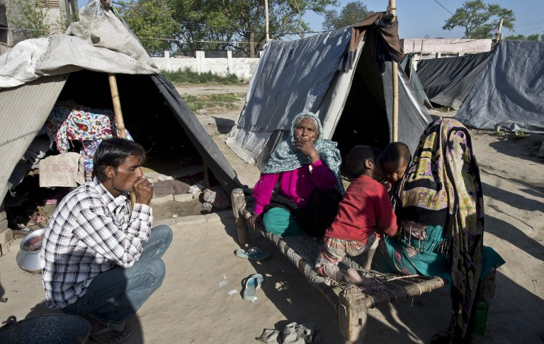 Camp at the village of Jaula in Muzaffarnagar District on April 10, 2014Image: AFP PHOTO/Prakash SINGH