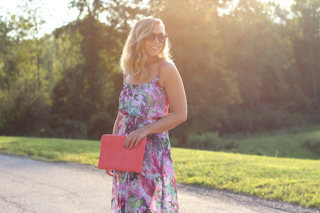 Floral Maxi | Golden Hour | Outfit | #LivingAfterMidnite