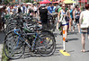 Bike rack at Pedestrian Sunday