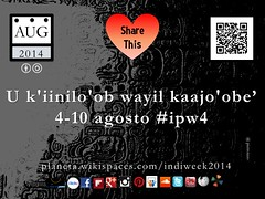 U k'iinilo'ob wayil kaajo'obe' (Indigenous Peoples Week) 4-10 agosto #ipw4 @elChilamBalam @nuttisamisiida @timeunlimited @localtravels @un