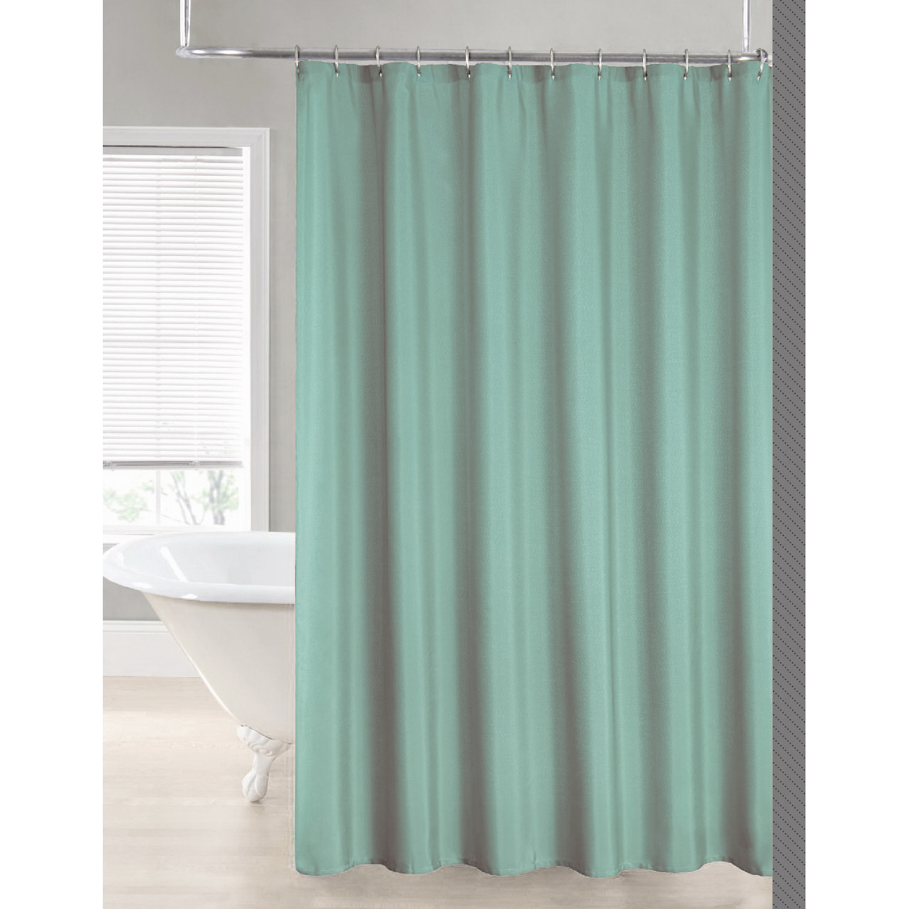 2 In 1 Water Repellant 70 X 72 Polyester Fabric Shower Curtain Liner 11 Colors Ebay