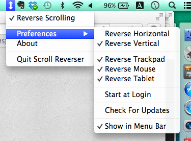 Scroll Reverser for Mac OS X