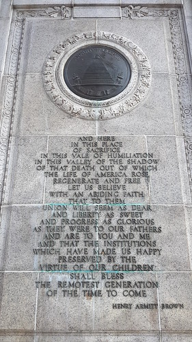 Inscription on the National Memorial Arch