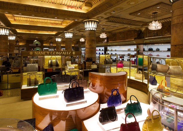 Nancy Gonzalez boutique at Harrods
