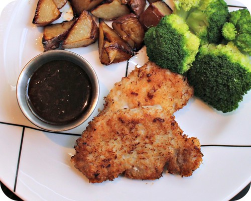 Panko Pork with Apricot Dipping Sauce