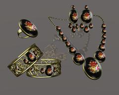 *AvaWay* Bracelet & Ring & Earrings & Necklace # 4 Jewelry