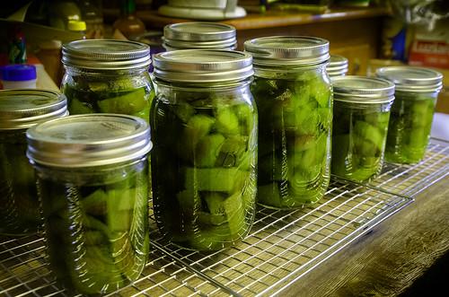 Pickled watermelon rind - YUM!