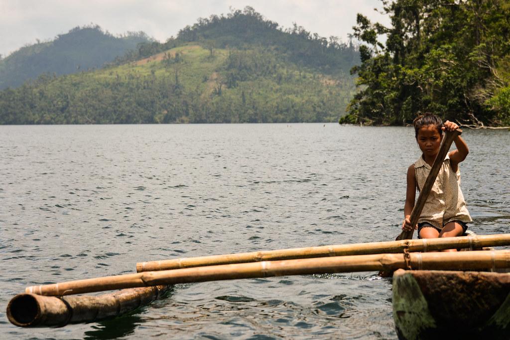 Ormoc, Leyte, Lake Danao, Bangka, Outrigger Boat, Girl