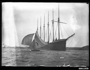 The six-masted schooner HELEN B STERLING on Sydney Harbour