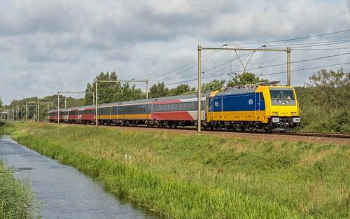 Woudenberg NS 186 001 met testtrein