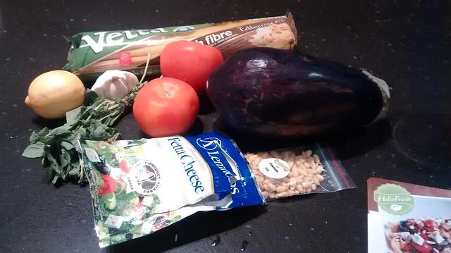 Roasted Eggplant and Pinenut Pasta