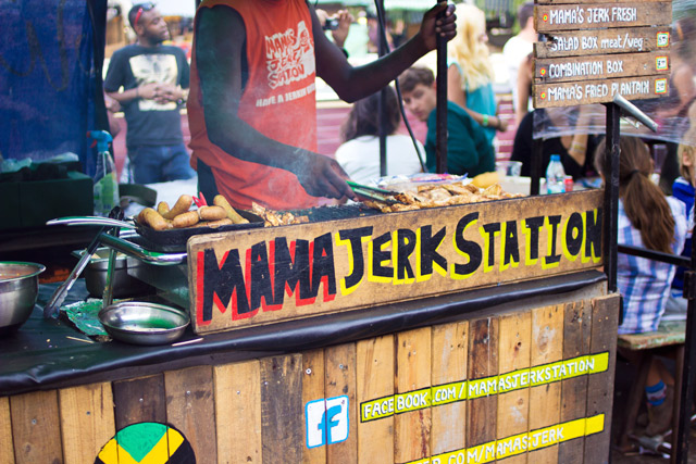 Mama's Jerk station Camden Lock Night Market