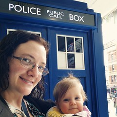 All we needed was the Doctor and we'd be off on an adventure through time and space! #DrWho #tardis #mybeautifulbaby
