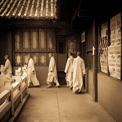 Procession of Buddhist monks, KunMing, China 2014