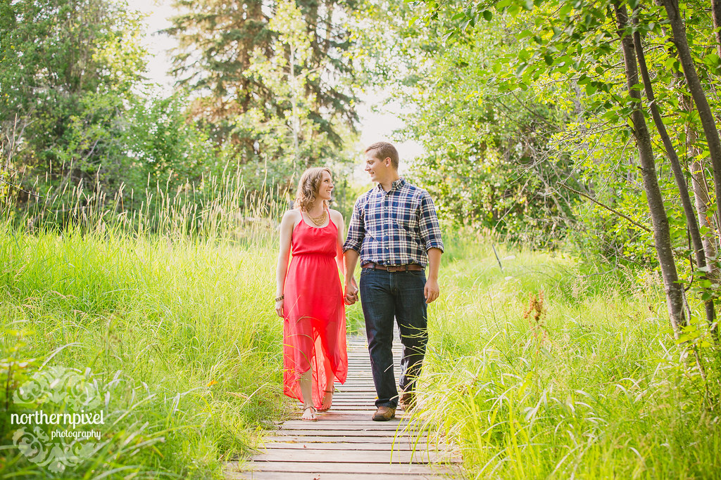 Engagement at Huble Homestead Prince George Photographer