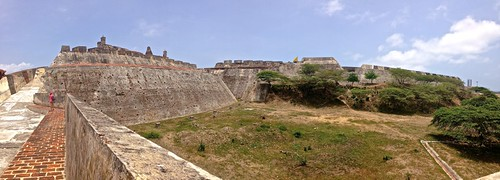the first line of defense at Castillo San Felipe de Barajas