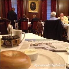Another Victorian breakfast. #whatsprinceeating: Toasted Bagel. www.princesdailyjournal.com #princesdailyjournal #breakfast #victorian #entrepreneur #myfab5 #food #foodie #foodart #iphonephotography #boston @bestfoodboston