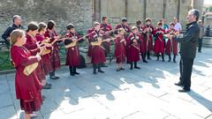Występ ludowego zespołu gruzińskiego. Mtskheta - dawna stolica Gruzji.