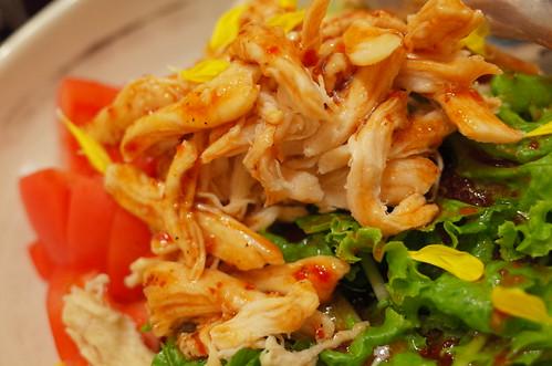chicken sarad 蒸し鶏の黒酢サラダ