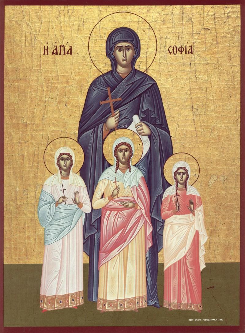 Sfintele Mucenite Sofia, Pistis, Elpis si Agapis