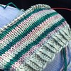 Loving this combo. #knit #knitting #knitstagram #stripes #green