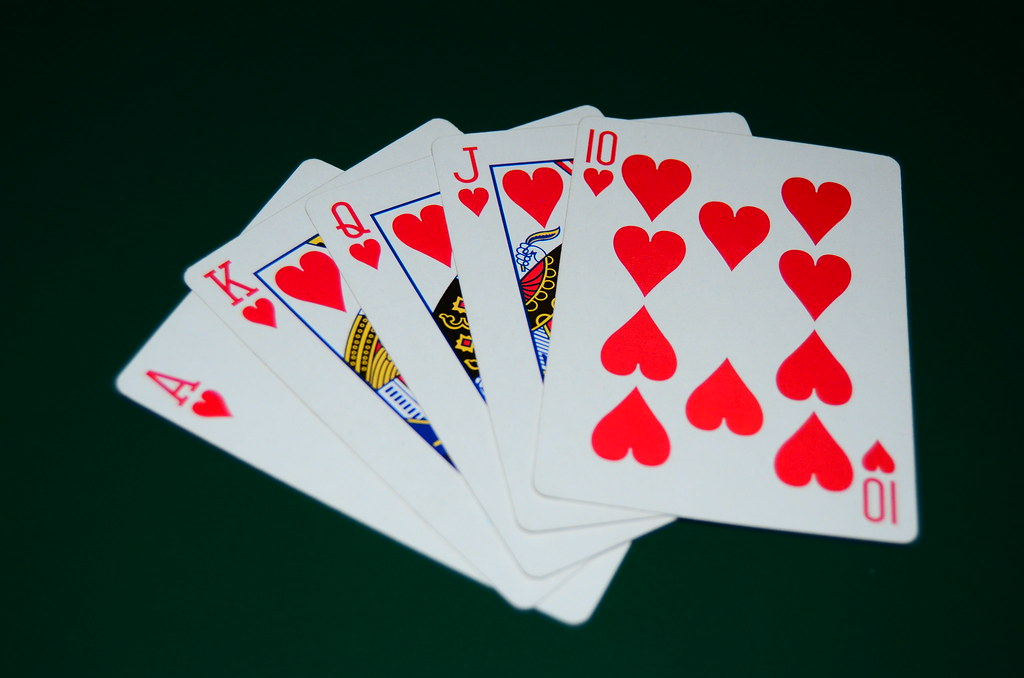 Royal Flush - Hearts | A Royal Flush hand of the suit of