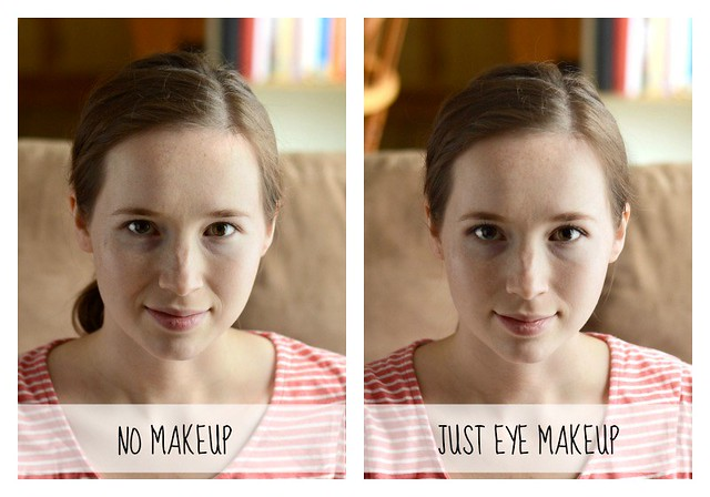 No Makeup VS Just Eye Makeup