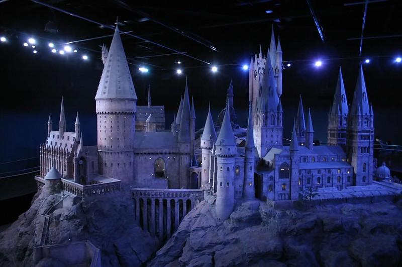 Model of'Hogwarts Castle' at Leavesden Studios. Watford.