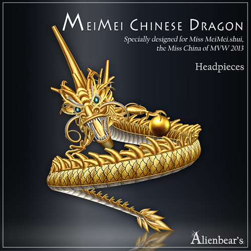 MeiMei Chinese Dragon Headpieces MVWChina2013