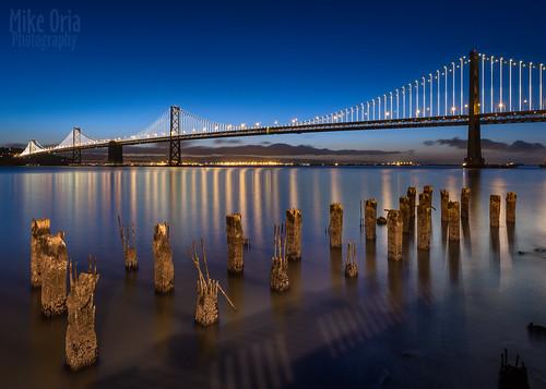 california bridge blue seascape mike sunrise landscape photography dawn lights bay twilight san francisco long exposure waterfront pentax howard clear hour embarcadero pilings oria 645d pentax645d mikeoria dfa25