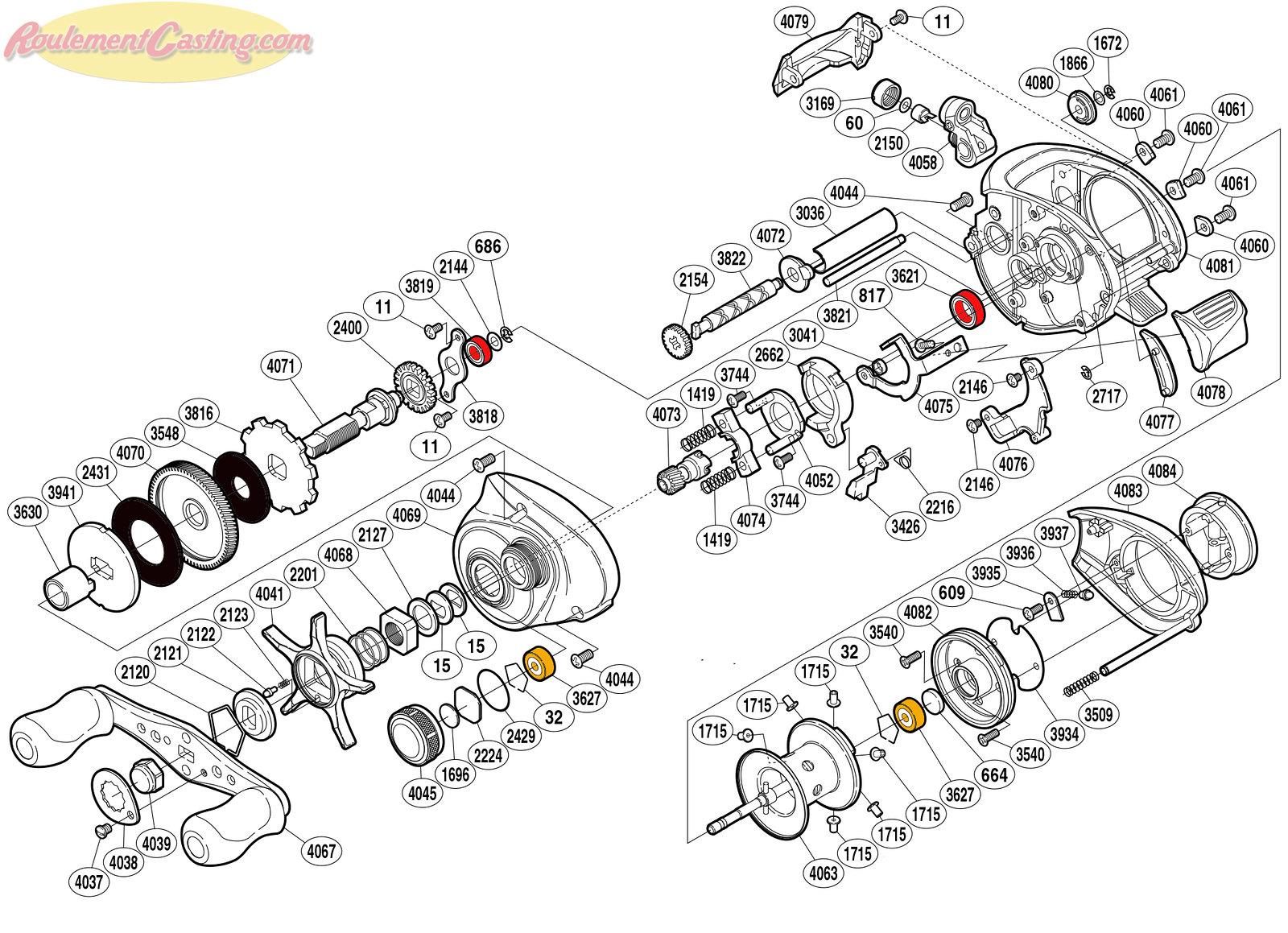 Schéma Shimano 10' CORE 51MG7