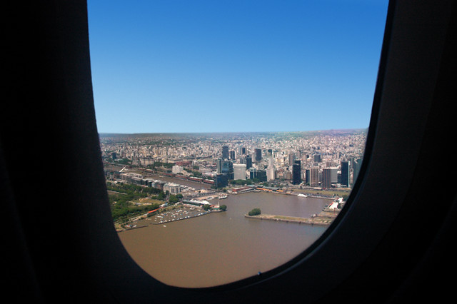 Arriving in Buenos Aires from the plane window