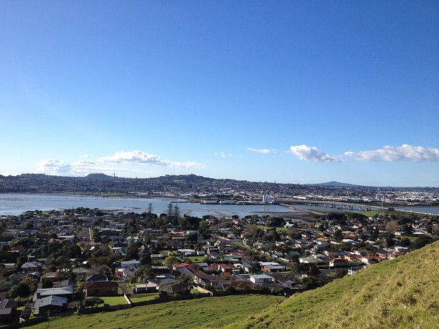 View of Auckland from the South atop Mangere Mountain