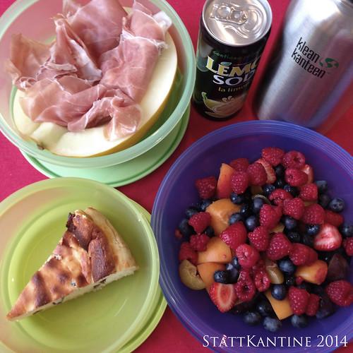 StattKantine 30.09.14 - Melone mit Schinken, Käsekuchen