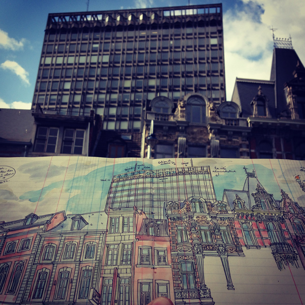 urban sketchers in liège
