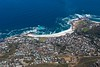 Looking down onto Camps Bay from the top of Table Mountain