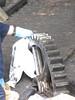 Oiling a cog wheel