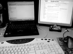 personal computer hardware, desktop computer, white, personal computer, multimedia, monochrome photography, design, monochrome, computer hardware, computer keyboard, black-and-white, laptop, black,