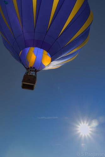 morning blue sky sun sunlight sunrise fly texas unitedstates balloon plano launch planoballoon
