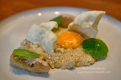 Jerusalem artichoke with an onsen egg at an elegan…
