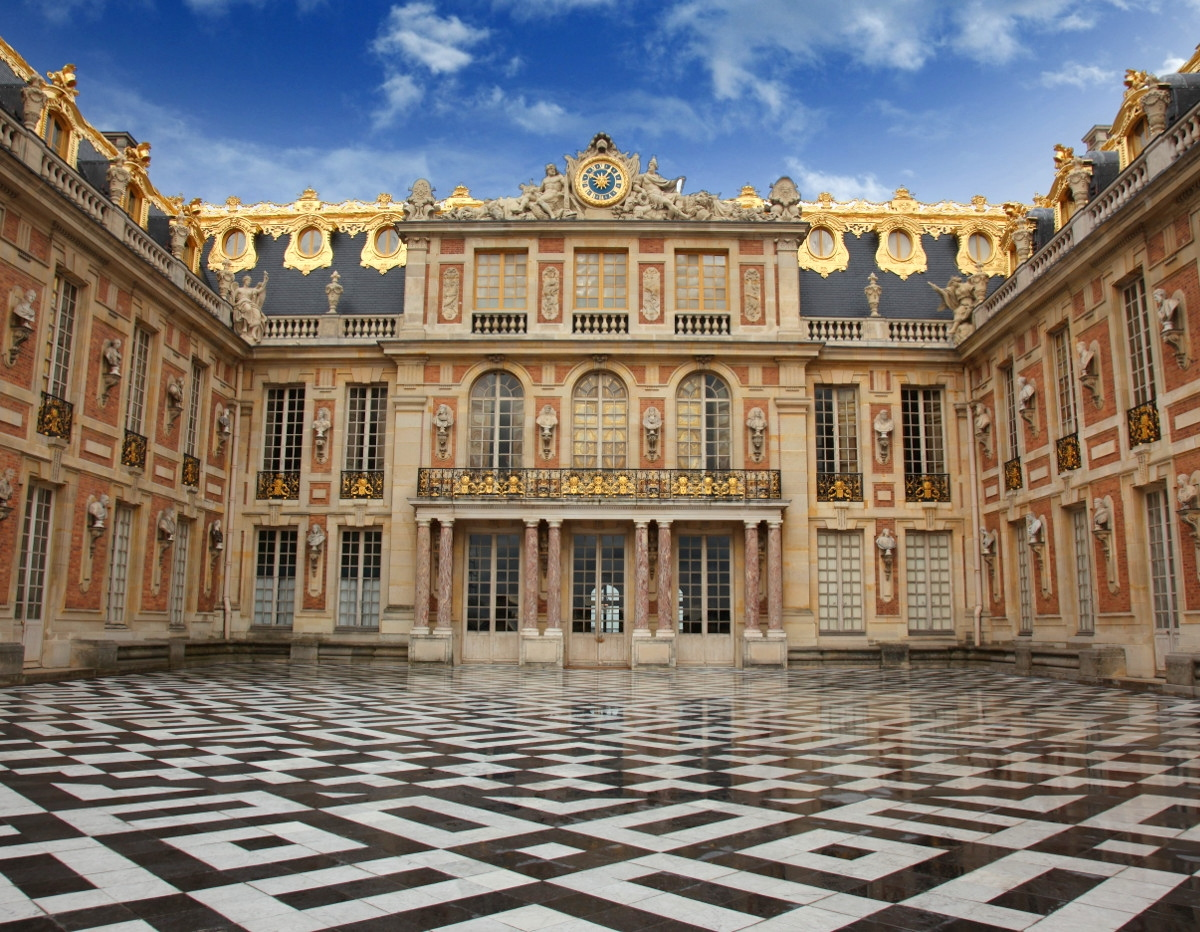 Marble Courtyard at the Palace of Varsailles